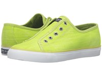 Sperry Seacoast Ripstop Canvas Lime Women's Shoes Green