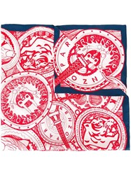 Kenzo Multi Icon Scarf Red