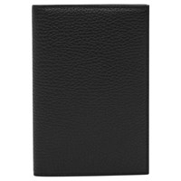 Reiss Parsons Leather Passport Holder Black