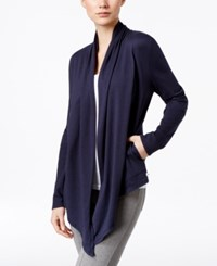 Lucky Brand Asymmetrical Hem Wrap Navy