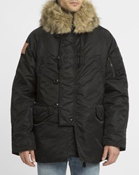Denim And Supply Ralph Lauren Black Nylon Snorkel Parka