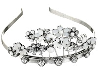Betsey Johnson Something New Rhinestone Tiara Compact Crystal Silver Ox Plate Treatment Cosmetics