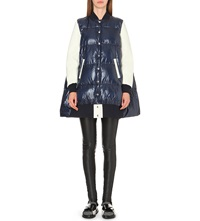 Sacai Cape Back Quilted Coat Navy