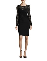 Calvin Klein Lace Accented Sheath Dress Black