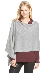 Women's In Cashmere Convertible Cashmere Poncho Grey Heather Mid Grey