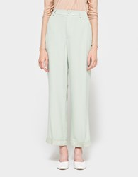Ganni Kamiko Pants Sea Foam