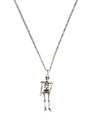 Saint Laurent Punk Skeleton Necklace