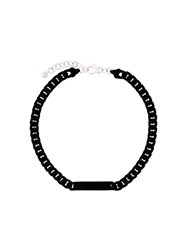 Maison Martin Margiela Mm6 Chain Necklace Black