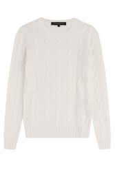 Ralph Lauren Black Label Cashmere Cable Knit Pullover White