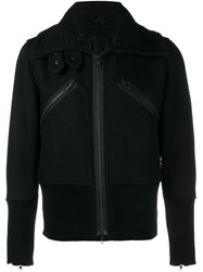 Ann Demeulemeester Ribbed Detail Jacket Black