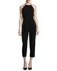 Elizabeth And James Jagger Halter Neck Jumpsuit Black