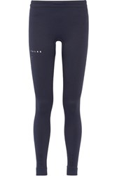 Falke Ergonomic Sport System Textured Stretch Jersey Leggings Navy