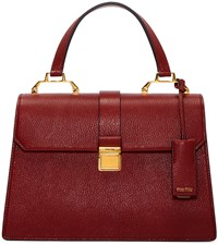 Miu Miu Red Leather Top Handle Bag
