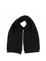 Johnstons Of Elgin Cashmere Quilted Texture Scarf Black