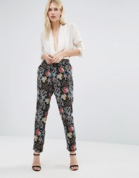 Only Floella Printed Trousers Black Print