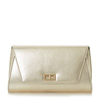 Head Over Heels Barlina Turn Lock Clutch Bag Gold