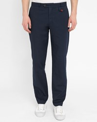 Oliver Spencer Navy Fishtail Suit Trousers