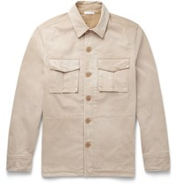 Tomas Maier Slim Fit Washed Cotton Field Jacket Neutrals