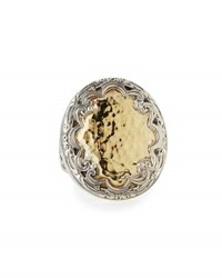 Konstantino Aspasia Rounded Hammered Ring Multi