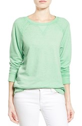 Women's Caslon Burnout Sweatshirt Green Zephyr