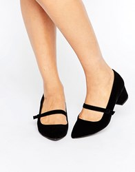 Miss Kg Mary Jane Low Heeled Shoes Black