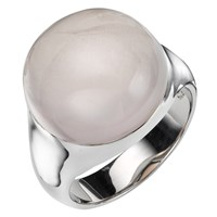 A B Davis Sterling Silver Semi Precious Bubble Stone Ring Rose Quartz