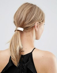 Orelia Brushed Curve Hair Clip Gold