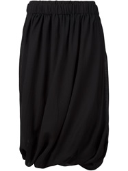 Alexandre Plokhov Draped Midi Skirt Black