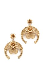 Elizabeth Cole Jane Earrings Golden Glow