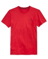 Armani Exchange Men's Side Logo Graphic Print T Shirt Absolute Red