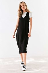 Silence And Noise Scoop Plunge Midi Dress Black
