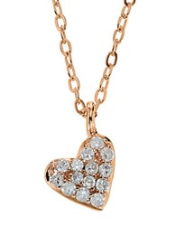 Lord And Taylor 14Kt. Rose Gold Diamond Heart Pendant Necklace