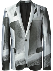 Les Hommes Abstract Print Blazer