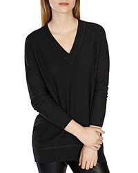 Karen Millen V Neck Knit Tunic Black