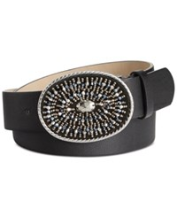 Inc International Concepts Beaded Inset Buckle Belt Only At Macy's Black