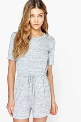Boohoo Casual Relaxed Fit Knitted Playsuit Grey