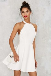 Nasty Gal Full Scallop Attack Flare Dress