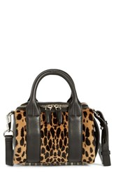 Alexander Wang 'Mini Rockie' Cheetah Print Genuine Kangaroo Fur Satchel