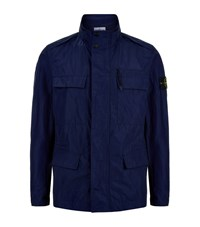 Stone Island Micro Reps Field Jacket Male Blue