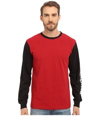 Deus Ex Machina Frank Sleez Long Sleeve Tee Red Black Men's T Shirt