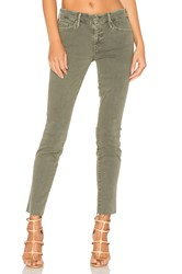Mother Looker Ankle Fray Faded Army