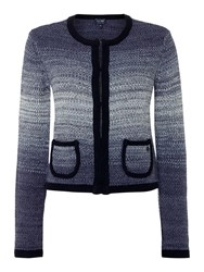 Armani Jeans Long Sleeve Ombre Cardigan Navy