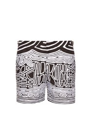 Orlebar Brown Bulldog Abstract Print Swim Shorts Black Multi