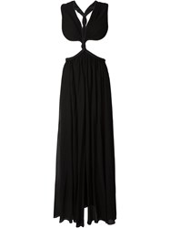 Jay Ahr Rope Detail Cut Out Evening Dress Black