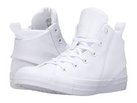 Converse Chuck Taylor All Star Sloane Monochrome Leather Hi White White White Women's Lace Up Casual Shoes