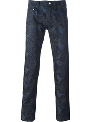 Kenzo Printed Jeans Blue
