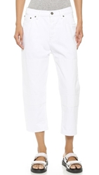 Marc By Marc Jacobs Big Cuffed Jeans Patched Up White