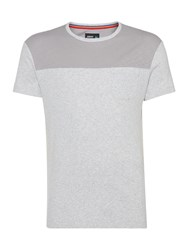 Army And Navy Wesley Contrast Panel T Shirt Grey