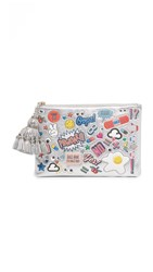 Anya Hindmarch Georgiana All Over Wink Clutch Silver