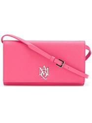 Alexander Mcqueen Amq Pouch With Strap Pink And Purple